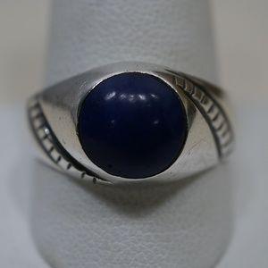 Sterling Silver (.925) Men's Lapis Lazuli Ring